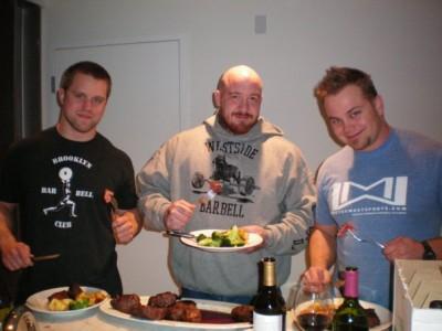 Me (225), JP (240+), and Josh (235).