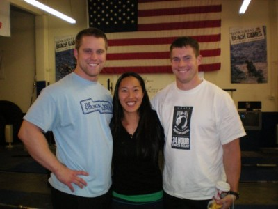 Ruth and Sean: the weightlifting couple.