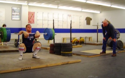 Tommy Suggs coaches me on this 155 kg clean and jerk
