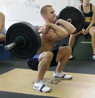 A 5 year old picture of cleans in a conditioning workout. It's possible to maintain technique while fatigued.