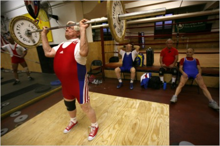 The Olympic lifts can augment training programs for older gents.