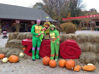 Chris and Family as Ninja Turtles